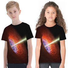 Fashion Spring Summer Kids T-Shirts 3D Printed Short Sleeve Round Neck T-shirt Boys Girls Tee Children Tops 2-11Y dc comics justice league the flash graphics printed summer round neck short sleeve t shirt blended sweat absorbing fitness shirt