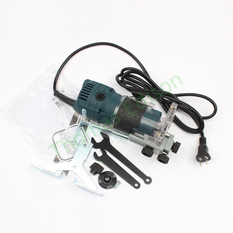 520w Multi fonction tondeuse électrique travail du bois rainurage gravure mécanique trou ouvert machine outils électriques