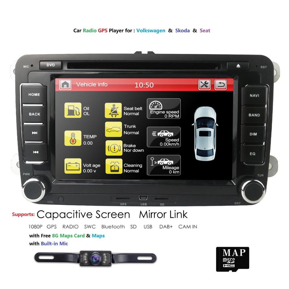 Hizpo 2 din Auto Radio Car DVD Player for Volkswagen VW GOLF <font><b>PASSAT</b></font> <font><b>B6</b></font> JETTA POLO CC TIGUAN OCTAVIA T5 Gps Navigation Multimedia image