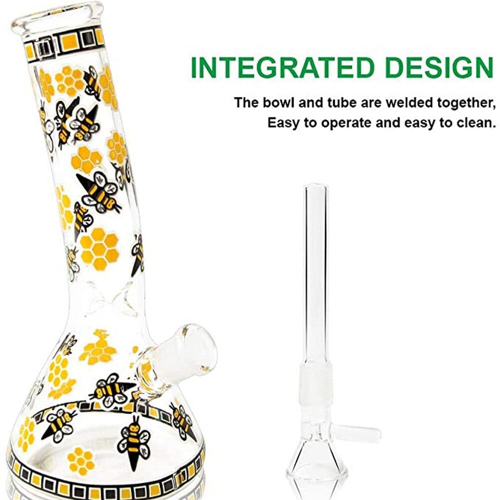 1 Set High Quality Hookah Mouth Glass Integrated Design Bowl Tube Welded Together Transparent Shisha Tool 1000°C Manual Welding 2