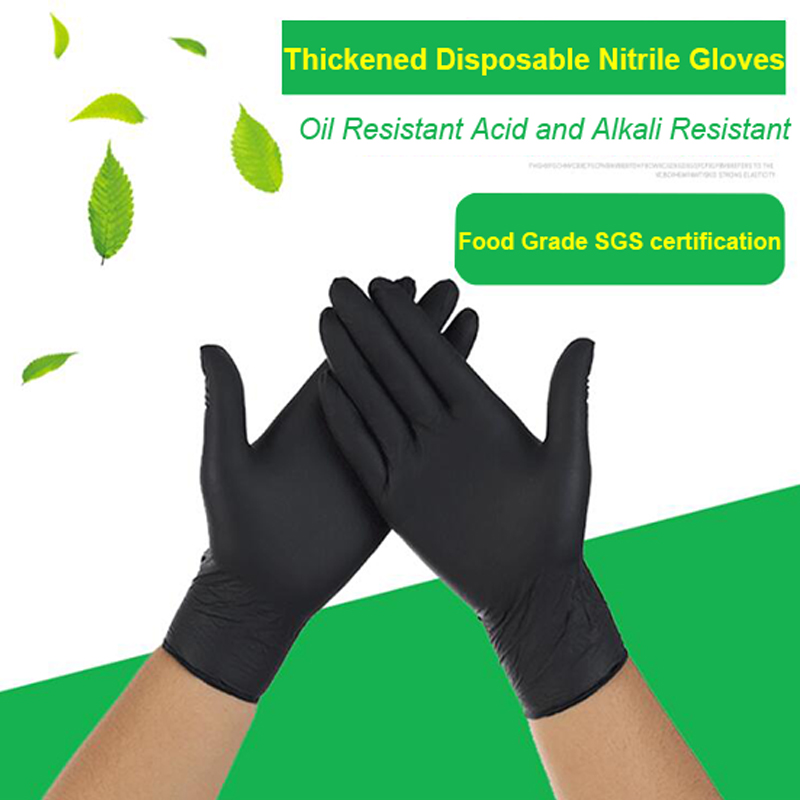 FSUP 100pc Disposable Nitrile Gloves Work Glove Food Cooking Gloves Kitchen Cleaning Universal Household Garden Tattoo Beauty