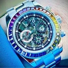 PAGANI DESIGN – montre mécanique automatique pour hommes, DESIGN squelette, mode Business, acier inoxydable, sport, luxe, étanche, horloge