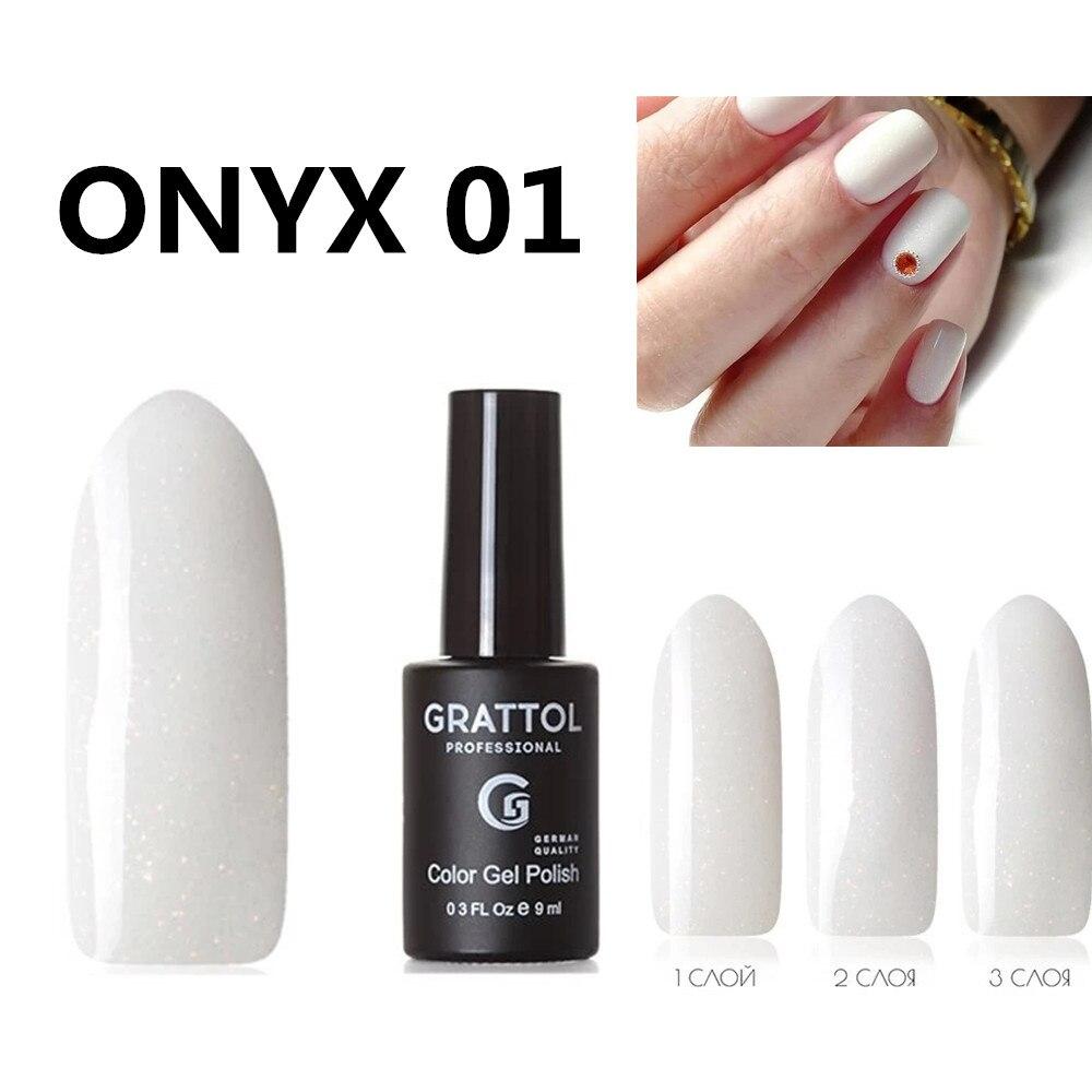 GRATTOL Профессиональный оникс 01 белый гель для ногтей с блестками лак с блестками УФ Гель лак для ногтей длинные прочный верх пальто УФ светодиодный гель варнис Гель для ногтей      АлиЭкспресс