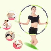 8 parte removível esporte hoop mulher emagrecimento equipamentos de fitness perda de peso cintura fina exercício abdominal ginásio formação hoola círculo