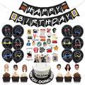 Темы для ТВ-шоу друзей, баннер на день рождения, шары, украшения вечерние, надувные шары, топпер для торта, гирлянда на день рождения, флаг, 1 н...