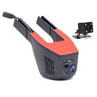 Wifi Front Rear Cam Driving Recorder HD Dual Lens Car Hidden Camera DVR