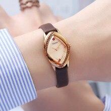 יוליוס גברת נשים של שעון יפן קוורץ שעות בסדר אופנה שעון צמיד עור CZ ריינסטון ילדה של יום הולדת מתנה לא תיבה