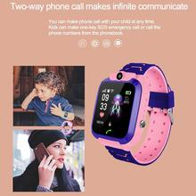 2020 New Waterproof Q12  Multifunction Children Digital Wristwatch Baby SOS GPS Watch Phone For IOS Android Kids Smart Watch Toy