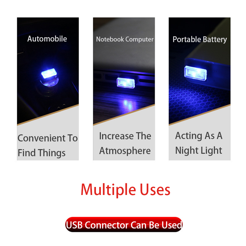 Image 3 - USB LED Light Car Decoration Interior Bling Car Accessories for Girls Dashboard Ornament Modified Car Ambient Lamp-in Ornaments from Automobiles & Motorcycles