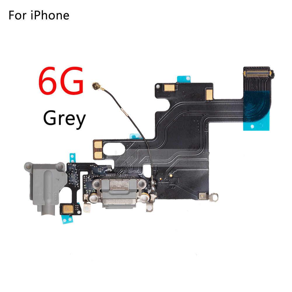 1 Stuks Nieuwe Charger Charging Port Usb Dock Connector Vervanging Voor Iphone 5 5C 5S 6 6S 7 plus Hoofdtelefoon Audio Jack Flex Kabel