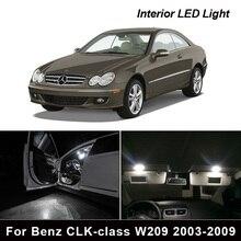 16Pcs Error Free Car LED Light Interior Kit For Mercedes Benz CLK class W209 2003 2009 Dome Door Trunk License plate light