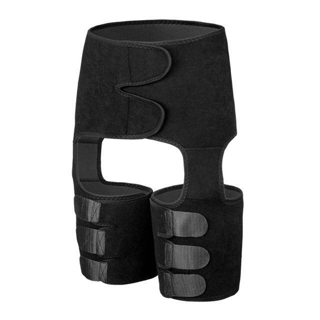 High Waist Neoprene Slim Thigh Trimmer Butt Lifter Leg Shaper Fat Burning Compress Waist Trainer Belt Sweat Shapewear Plus Size