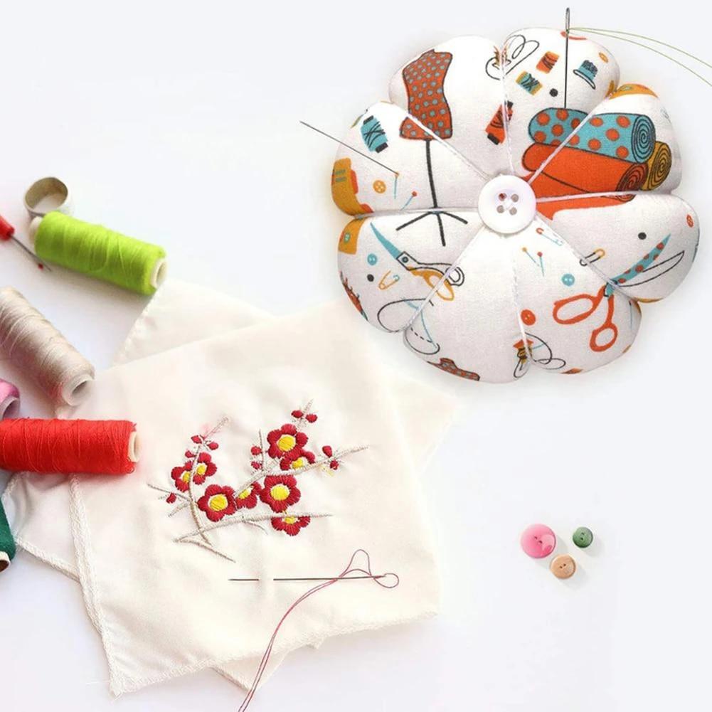 Black DIY Craft Cotton Sewing Pincushion Sewing Accessories Needle Holder Needle Pillow Wrist Pumpkin Shape Pin Cushion