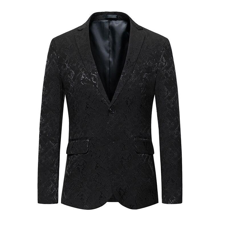 Мужская Черная костюмная куртка, топы с длинными рукавами, деловой Свадебный Мужской пиджак, пиджак, 2019 новый мужской костюм, пальто, тонкий ...