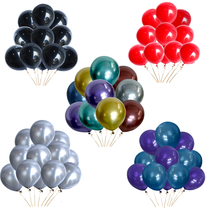 30pcs 12inch New Pearlescent Latex Balloons Wedding Dec Gold and Silver Matte Helium Globos Birthday Party Decoration Adult