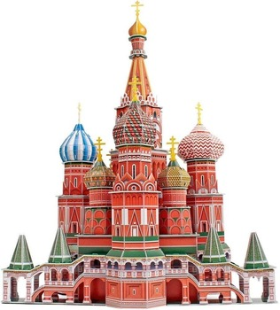 Brick Toys 3D Cathedral Puzzles Russia Architecture Building Church Model Kits Toys for Adult Kids 214 Pieces Paper Architecture