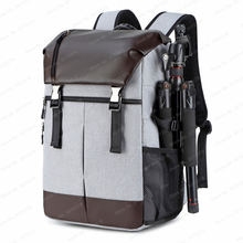 New Arrived DSLR Waterproof Camera Backpack Large Capacity Anti theft Photography Bag for Canon Nikon Sony w/ Reflector Stripe