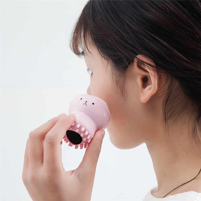 Silikon Gesicht Reinigung Pinsel Gesichts Reiniger Poren Reiniger Peeling Gesicht Peeling Waschen Pinsel Hautpflege Octopus Form