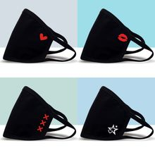 Mouth-Mask Protective Lips-Printing Breathable Fashion Cycling Anti-Dust Red Windproof