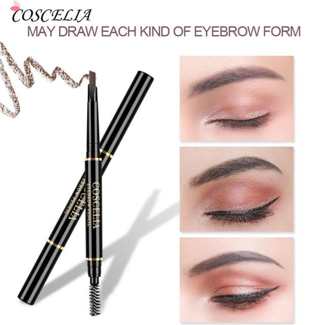 Eyebrow Pencil With Brush Double Ended Eyebrow Pen Waterproof Lasting Brow Tattoo Pen Eye Makeup Pencil Eyebrow Enhancer Pen