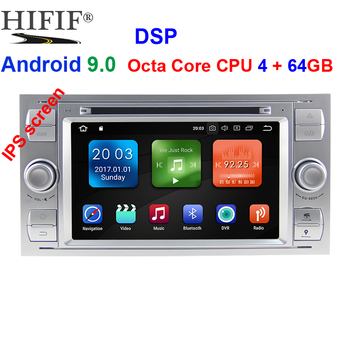 4G+64G 2 Din Android 9.0 Car dvd Multimedia Player GPS audio For Ford Mondeo Focus Transit C-MAX S-MAX Fiesta auto radio IPS DSP image