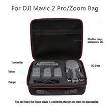 Funda de transporte EVA para Mavic 2 PRO/ZOOM, almacenamiento con diseño de concha, cámara de Dron y Caja del controlador inteligente, 3 baterías, accesorios
