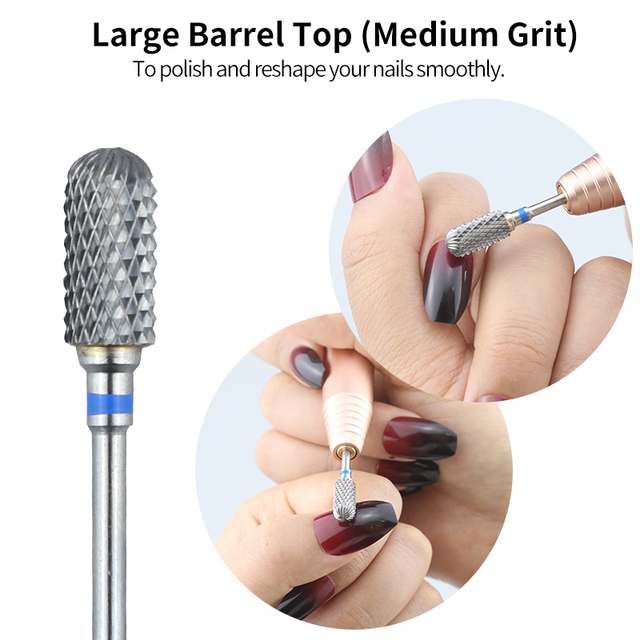 Tungsten Carbide Burr Milling Cutter For Manicure Machine Carbide Electric Nail Drill Milling Cutter For Nail Files Accessories 3