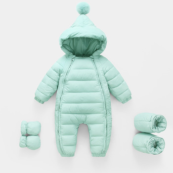 2020 Autumn Winter Newborn Rompers Hooded Warm Cotton Baby Boys Jumpsuit Toddler Girls Snowsuit Infant Baby Girl Overalls iyeal newborn baby snowsuit children infant winter coat warm liner hooded zipper jumpsuit boys girls duck down outwear overalls