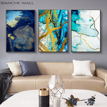 Scandinavian Style Marble Fluid Texture Abstract Poster Wall Art Canvas Print Painting Nordic Style Modern Living Room Decor