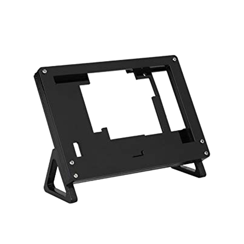 Case Fixed-Bracket-Holder Black for Raspberry Pi 3-model/B/800x480/Press-screen 5inch