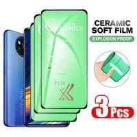 1-3 uds HD de cerámica suave película para Redmi Note 10 9 Pro Max 9T 9S 8 8T 7 7A 5 Plus protectores de pantalla para Xiaomi Mi Poco X3 Pro F3 M3