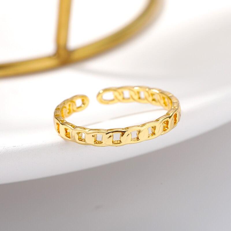 Женские винтажные кольца с цепочкой, регулируемые открытые минималистичные парные панковские кольца в готическом стиле, модные ювелирные ...