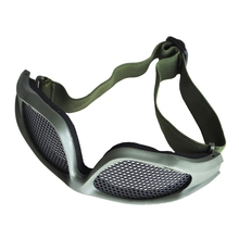 Shooting  Airsoft Hunting Sand Metal Mesh Goggles Glasses Army Green