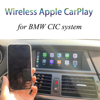 Wireless Apple Carplay Android auto interface Decoder For BMW Series 1 E87 Series 3 E90 E91 E92 Series 7 F01 F02 CIC System IOS image
