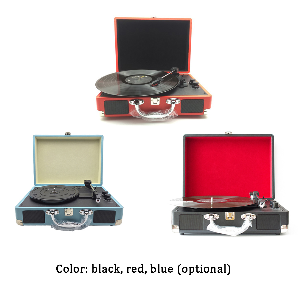 33RPM Antique Gramophone Turntable Disc Retro Record Player Vinyl Audio 3-Speed Aux-in Line-out USB DC 5V Gramophones