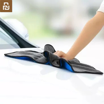 Youpin Nanofiber Cleaning Towel Rag Suede Thickening No Water Marks No Car Paint No Lint No Fading Scouring Pad