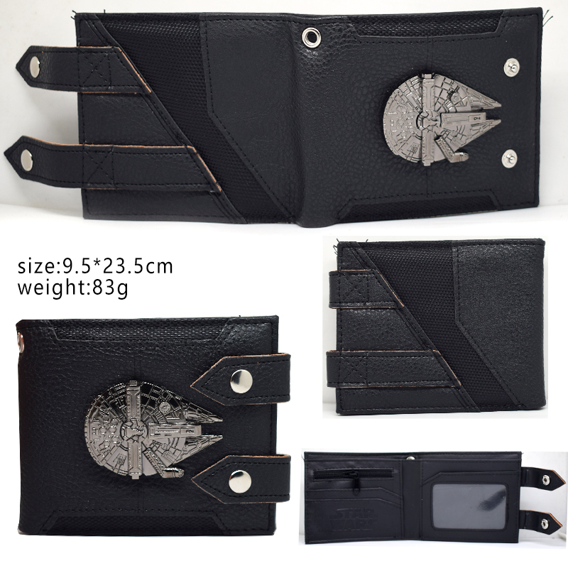 Star Wars Wallets Boys Gitls Short Purse Bi-Fold StarWar Movie Card Holder Dollar Bags Animated Cartoon Leather Short Wallets image
