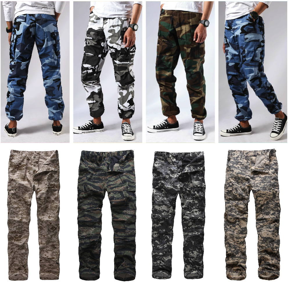 Image 3 - Mens Military Army Combat BDU Pants Work Casual Camouflage Fashion Cargo Pants-in Cargo Pants from Men's Clothing
