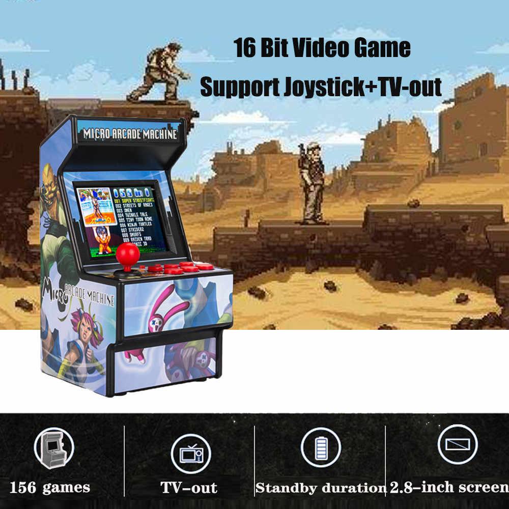 "Gamepad נייד רטרו מיני ארקייד כף יד משחק קונסולת מכונה נגן 16 קצת מובנה 156 קלאסי טלוויזיה פלט עם 2.8 ""מסך"