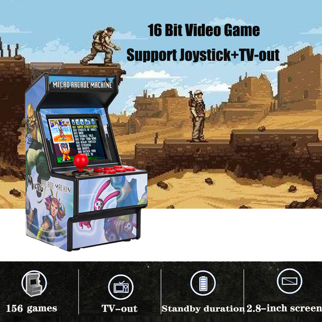 """Gamepad Portable Retro Mini Arcade Handheld Game Console Machine Player 16 Bit Built in 156 Classic TV Output With 2.8"""" Screen"""