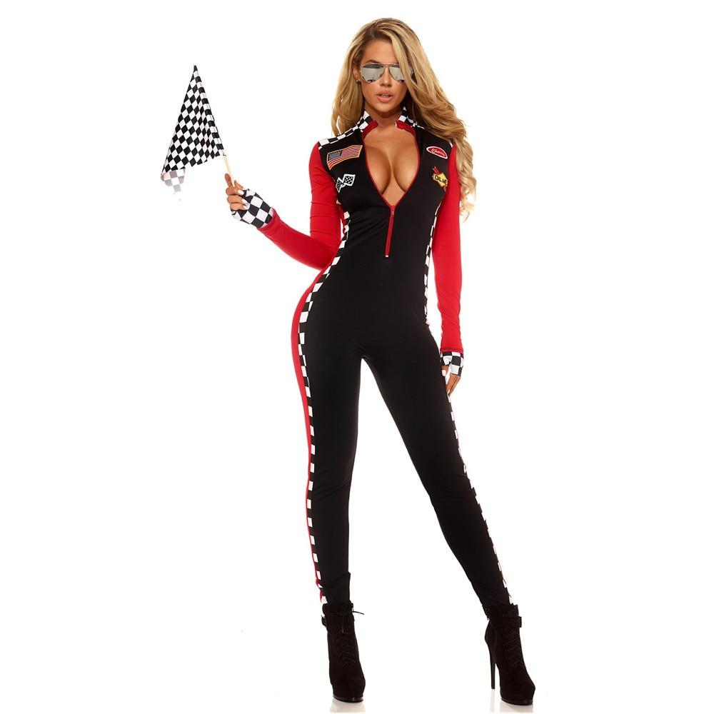 F1 racer costume Da Corsa delle donne locomotiva vestito Auto Da Corsa Costumi SEXY