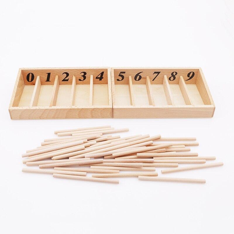 Раннее образование детей деревянные игрушки для детей шпиндель коробка с 45 шпинделями математика обучения и Шпиндельный стержень