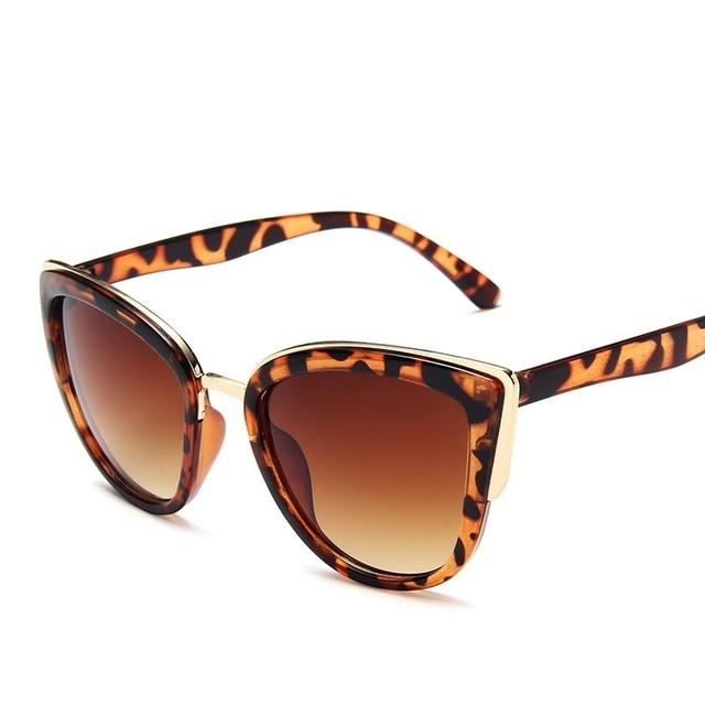 Driver Glasses Women Cat Eye Retro Designer Round Gradient Oversized Glasses Sunglasses Metal Frame Sunglasses Driver Goggles 5