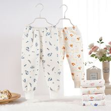 все цены на Autumn Winter Baby Pants Cotton Full Length Kids Clothing Mid Waist Print Unisex Toddler Trousers for 0-5Y Children Costume онлайн
