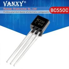 100 Uds BC550C a 92 BC550 TO92 550C nuevo transistor triodo