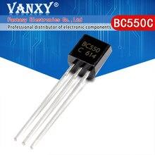 100PCS BC550C ZU 92 BC550 TO92 550C neue triode transistor
