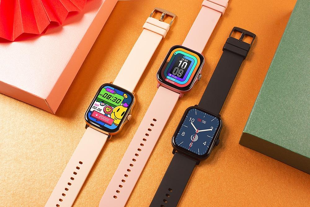 H8201970fb3b243108b5c11816196225bH COLMI P8 Plus 1.69 inch 2021 Smart Watch Men Full Touch Fitness Tracker IP67 waterproof Women GTS 2 Smartwatch for Xiaomi phone