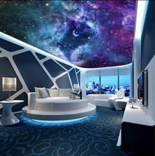 Dream Starry Living Room Bedroom Sky Ceiling Mural 3d ceiling murals wallpaper