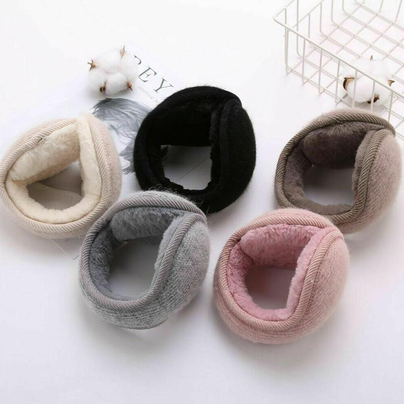 Winter Riding Ear Covering Rabbit Dur Knitted Plush Earmuffs For Men And Women After Wearing Warm Earmuffs Ear Warm Earmuffs