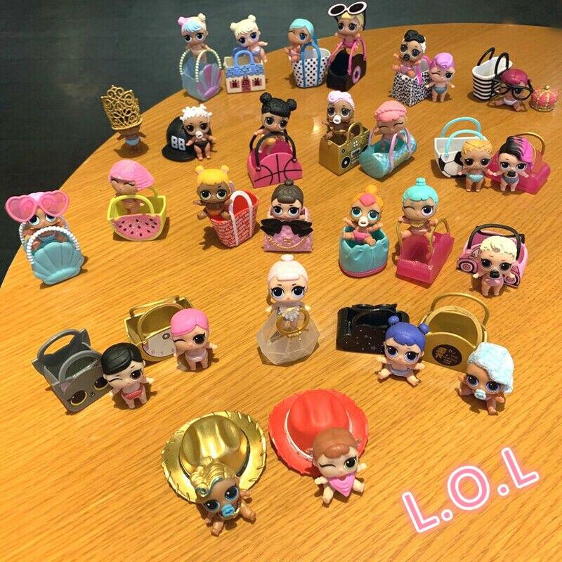 Куклы из серии «LOL Surprise» LIL SISTER Единорог всплеск Queen Luxe Bebe Bonita панк Boi Цвет изменить игрушка лимитированная коллекция для девочек вечерние под...